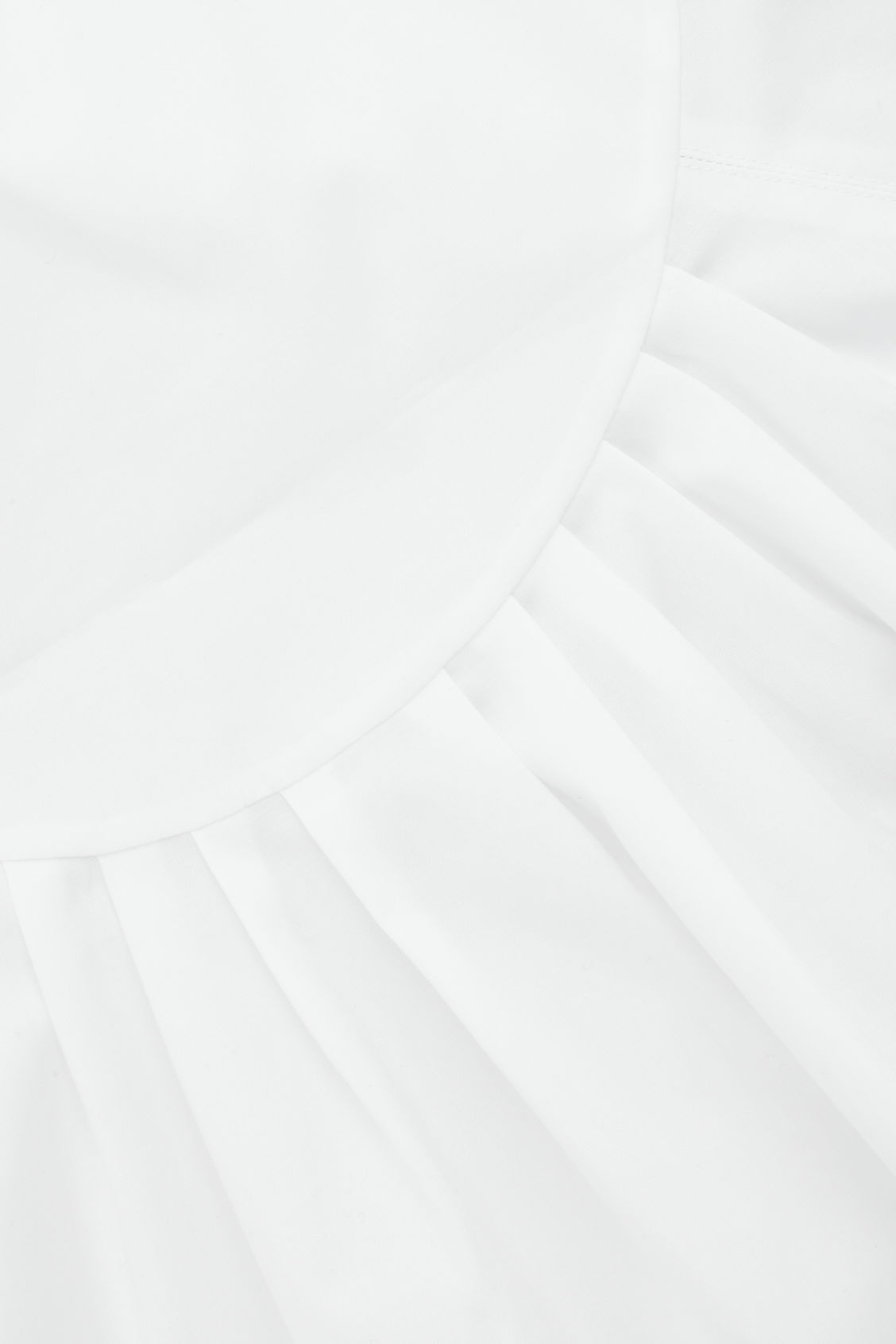 Side image of Cos low v-neck pleated top in white