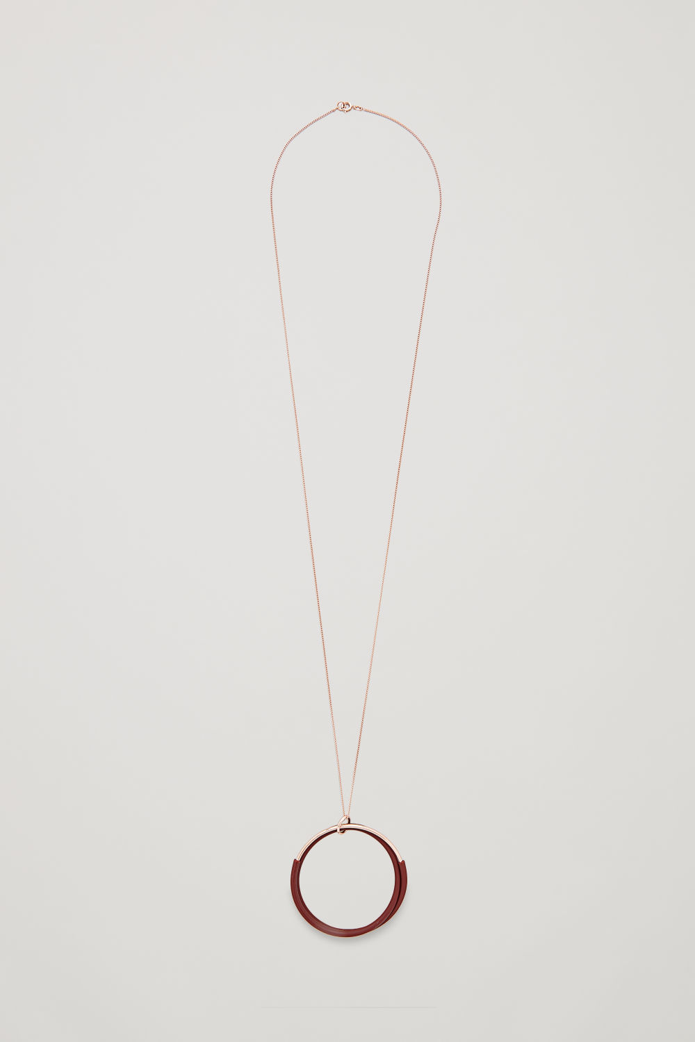 LONG RUBBER-RING NECKLACE