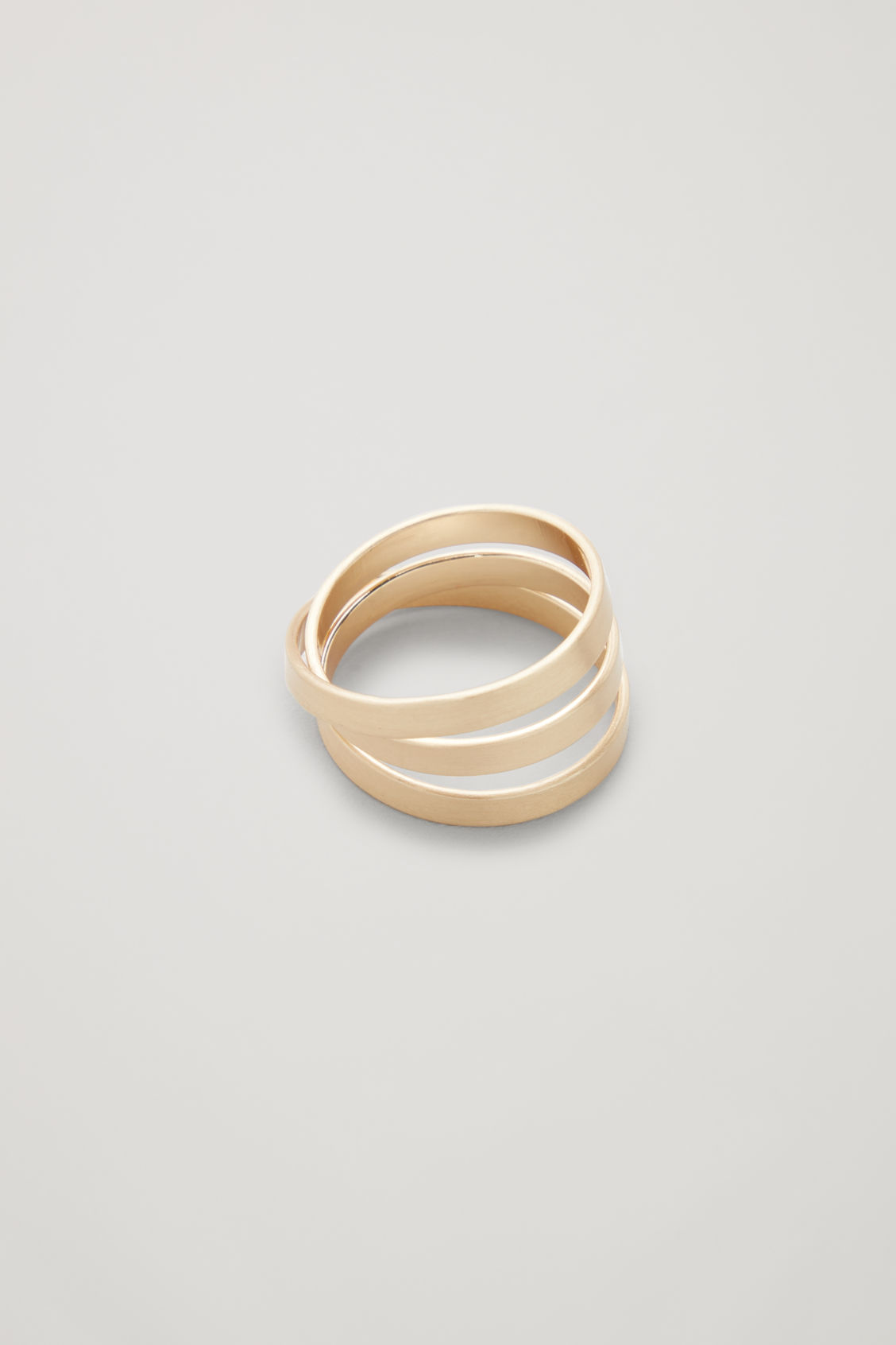 Side image of Cos brushed-metal infinity ring  in gold
