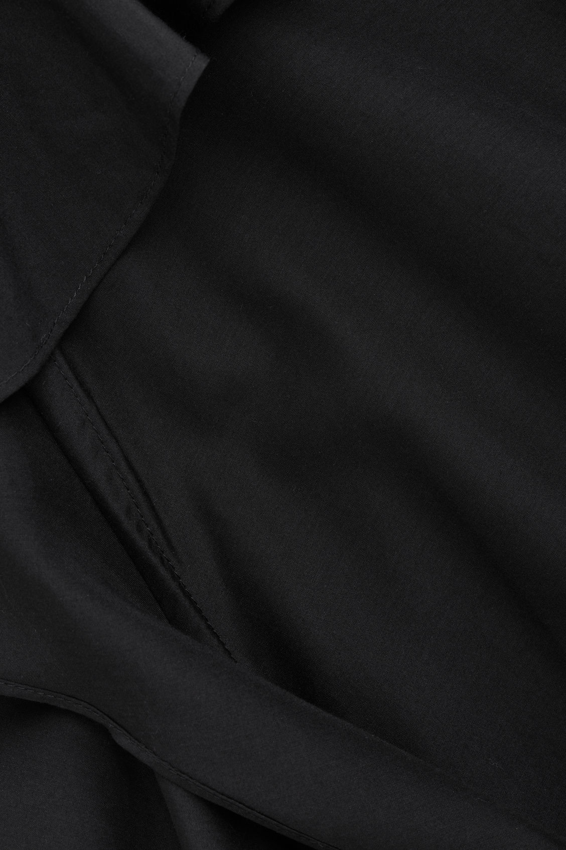 Side image of Cos frilled cotton-silk dress in black