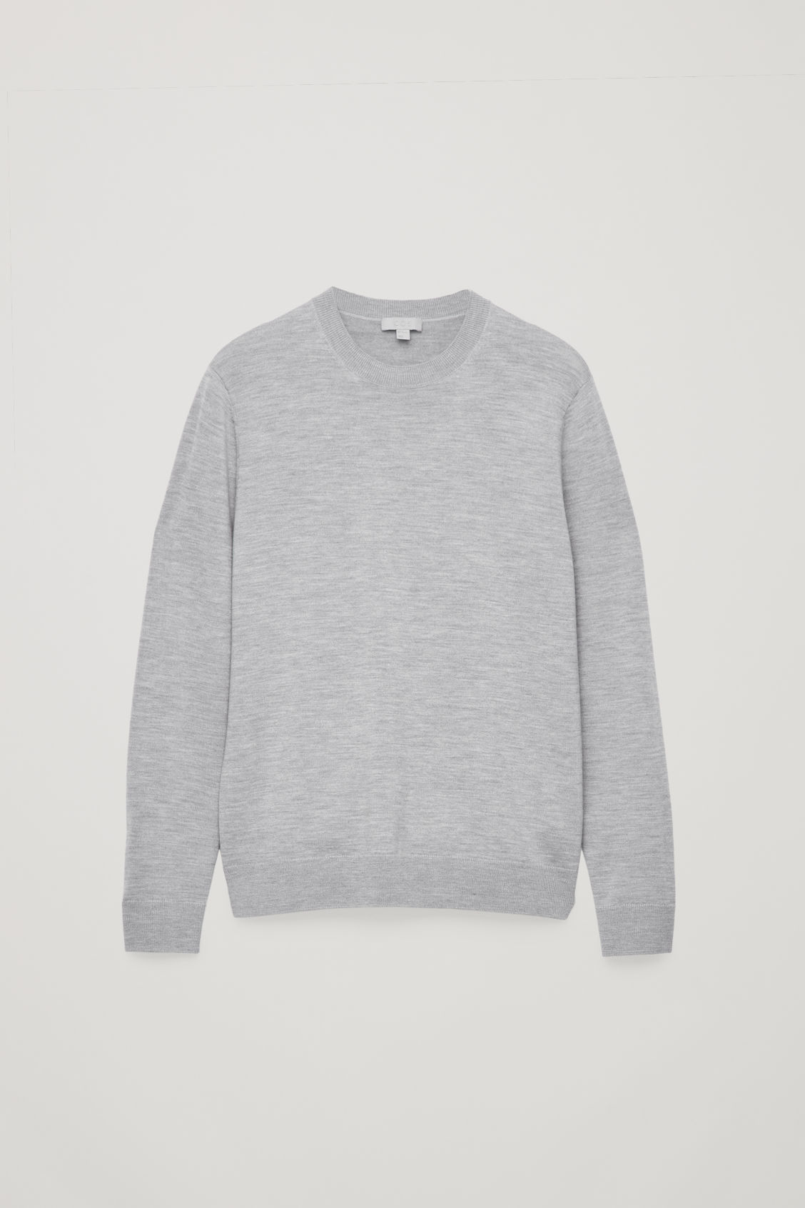 Front image of Cos merino wool jumper in grey