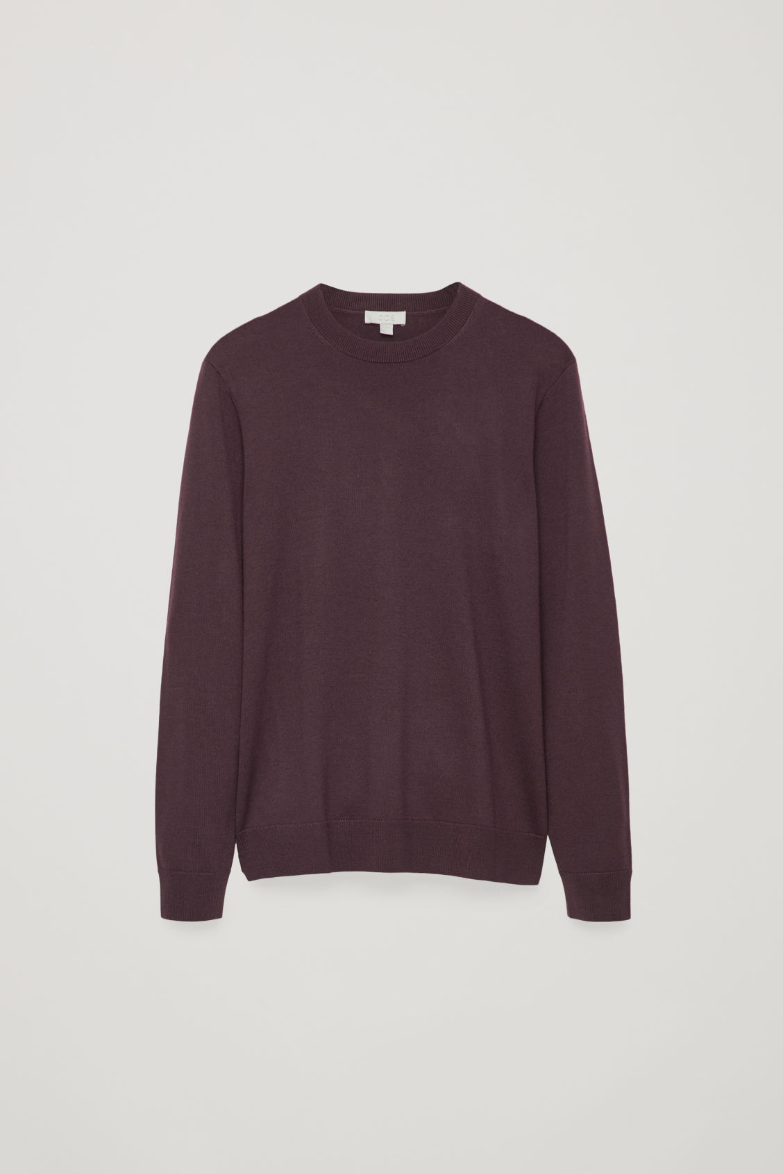Front image of Cos merino wool jumper in red