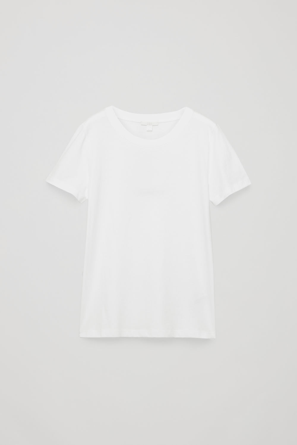 Front image of Cos pima cotton t-shirt in white