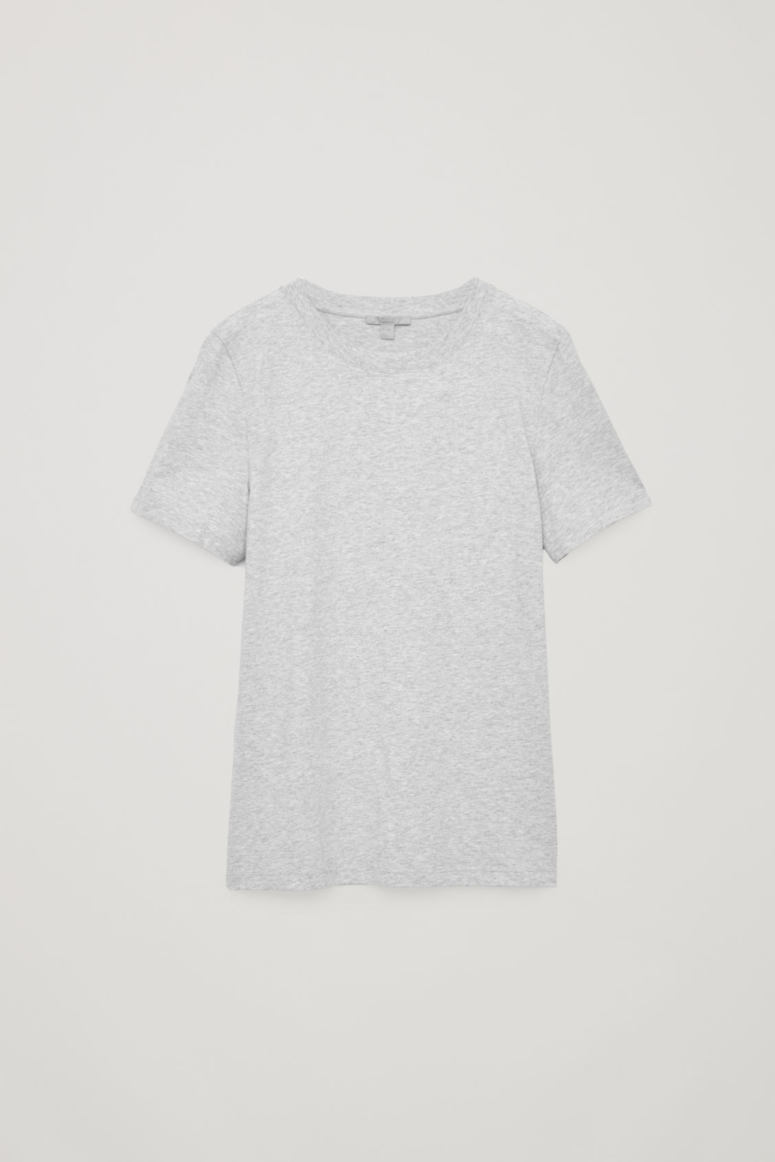 Front image of Cos cotton t-shirt in grey