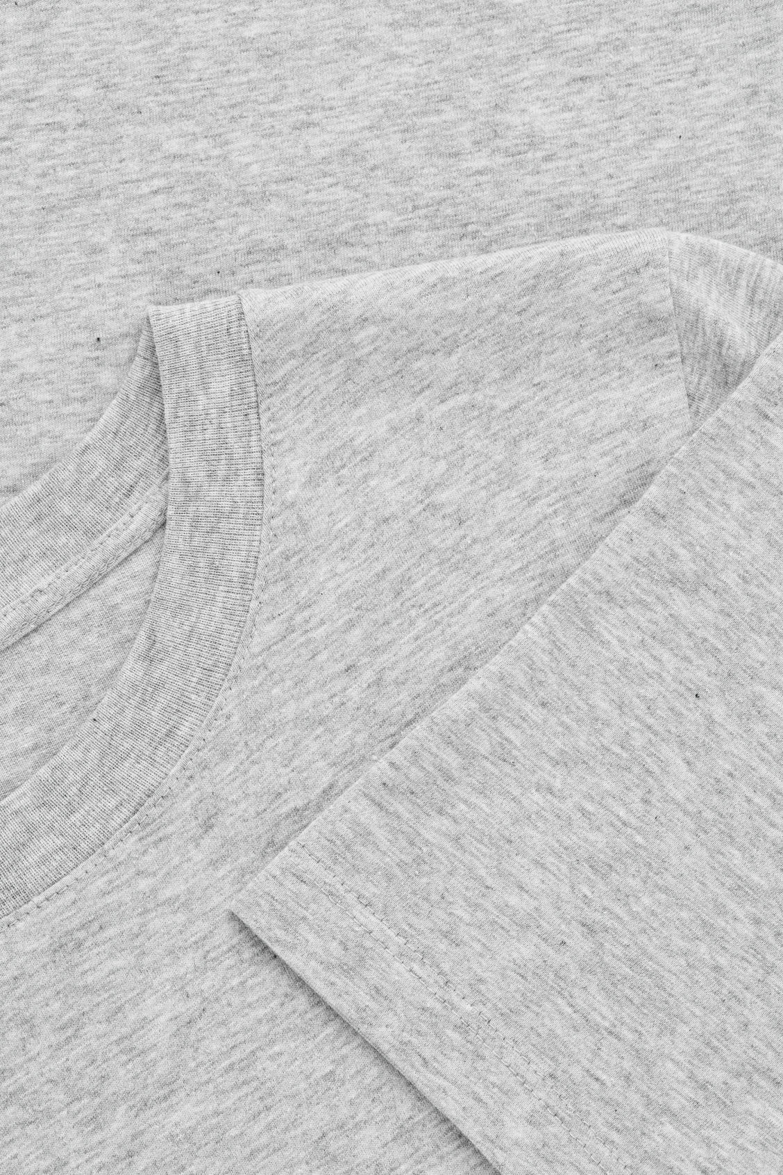 Side image of Cos cotton t-shirt in grey