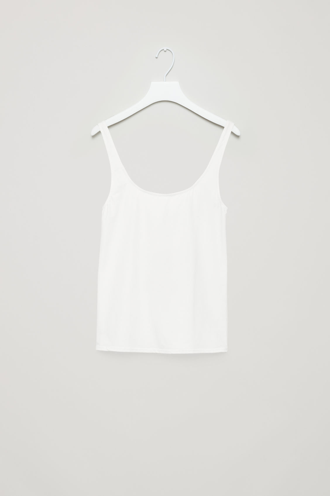 Front image of Cos stretch-cotton vest top in white