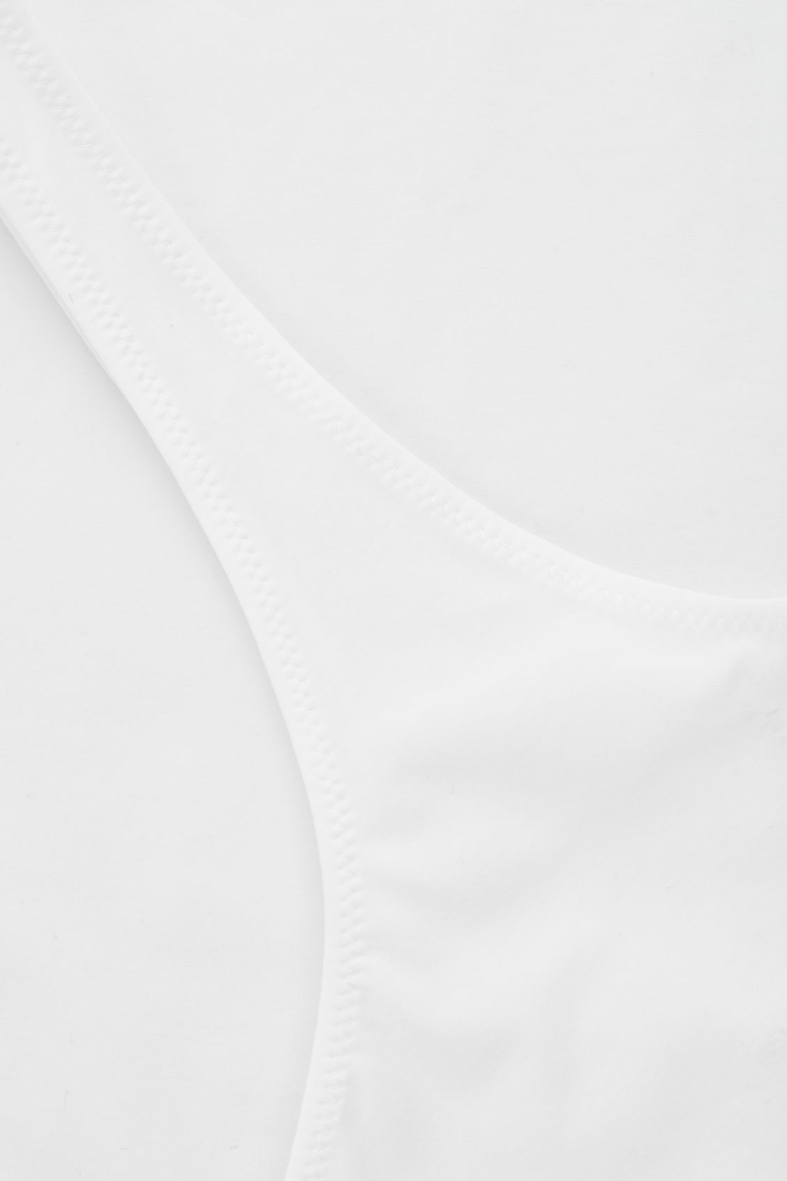 Side image of Cos stretch-cotton vest top in white