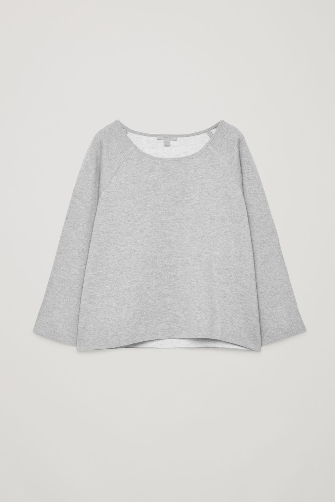 Front image of Cos cotton-cashmere knit top in grey