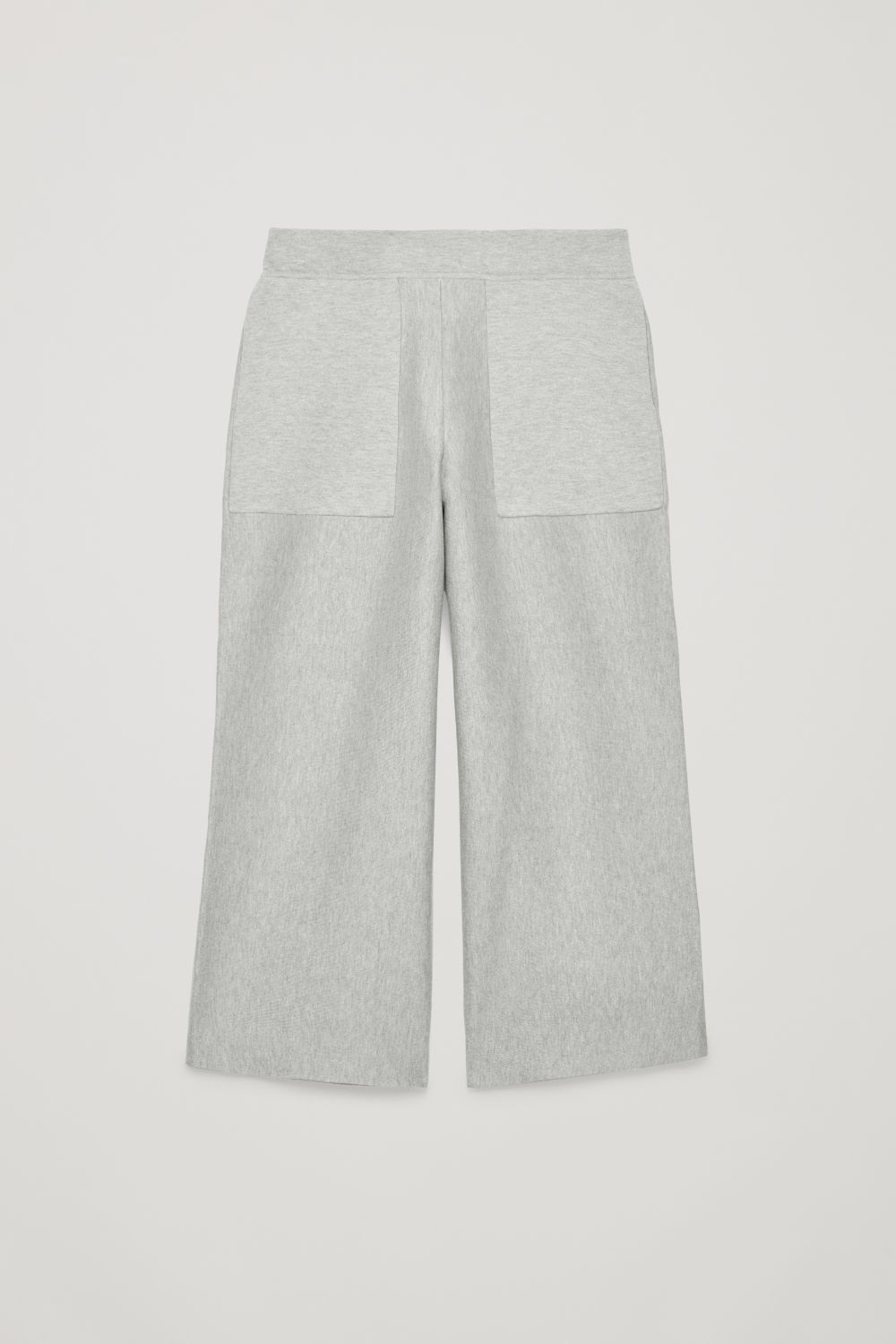 Front image of Cos cropped cotton-cashmere trousers in grey