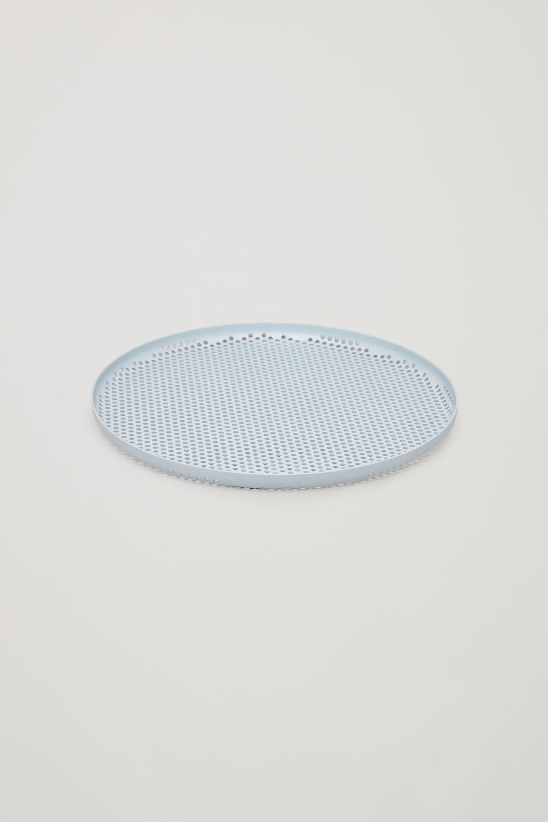 Side image of Cos hay large perforated tray  in blue