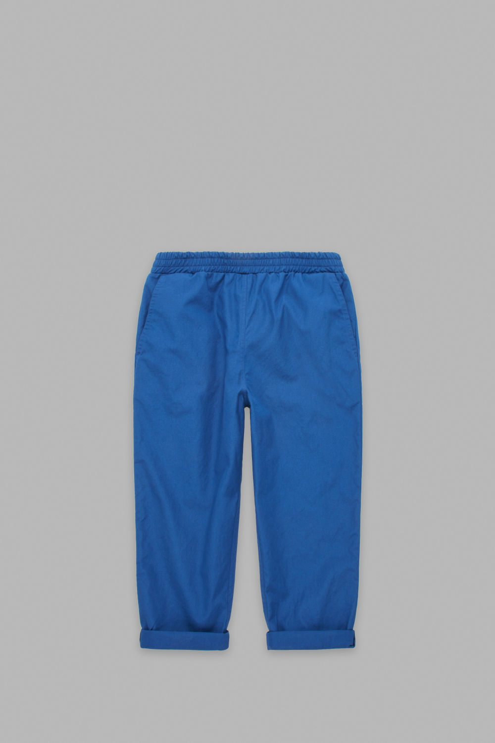 ELASTICATED TURN-UP TROUSERS