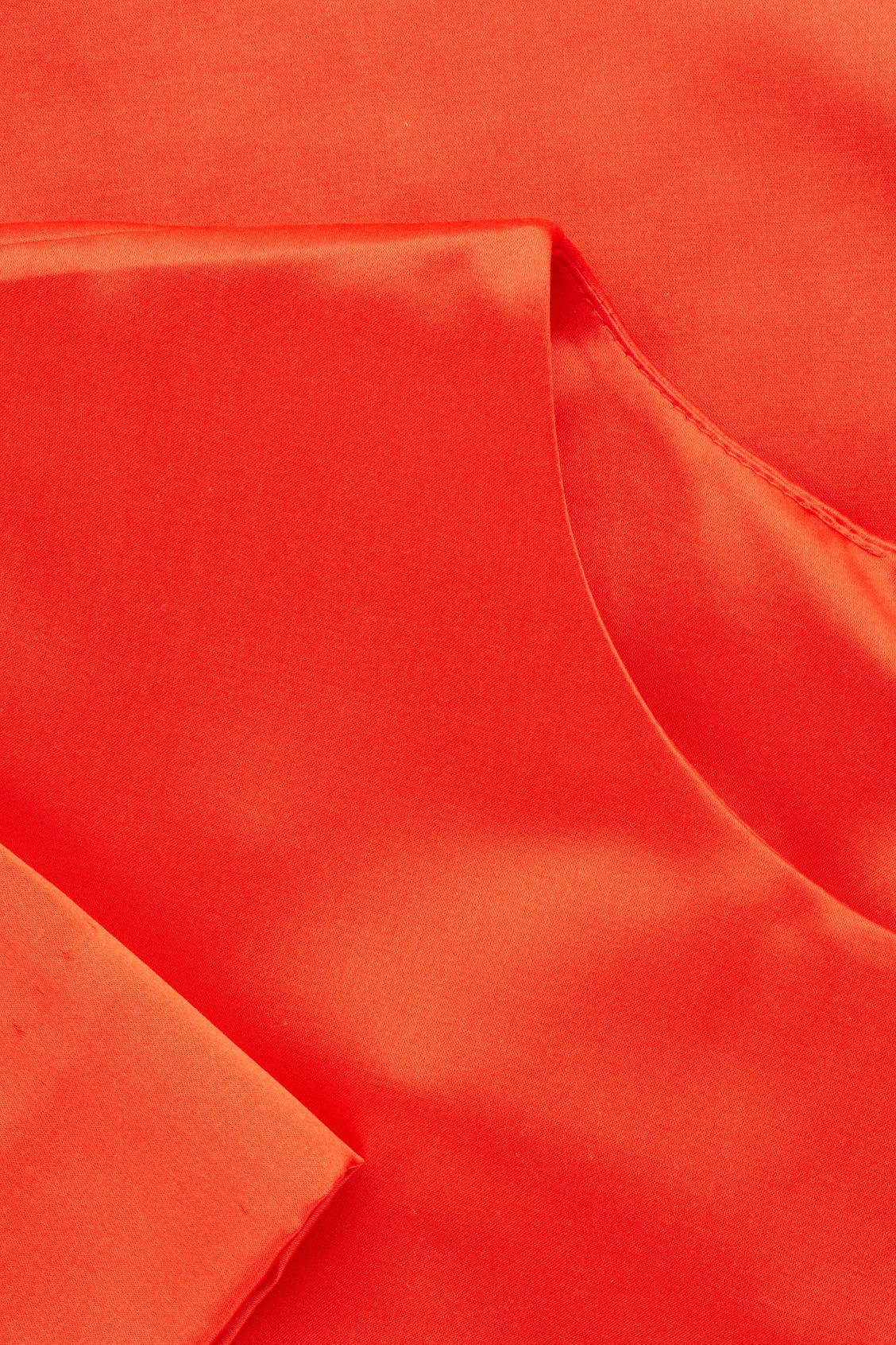 Side image of Cos short silk-blend dress in orange