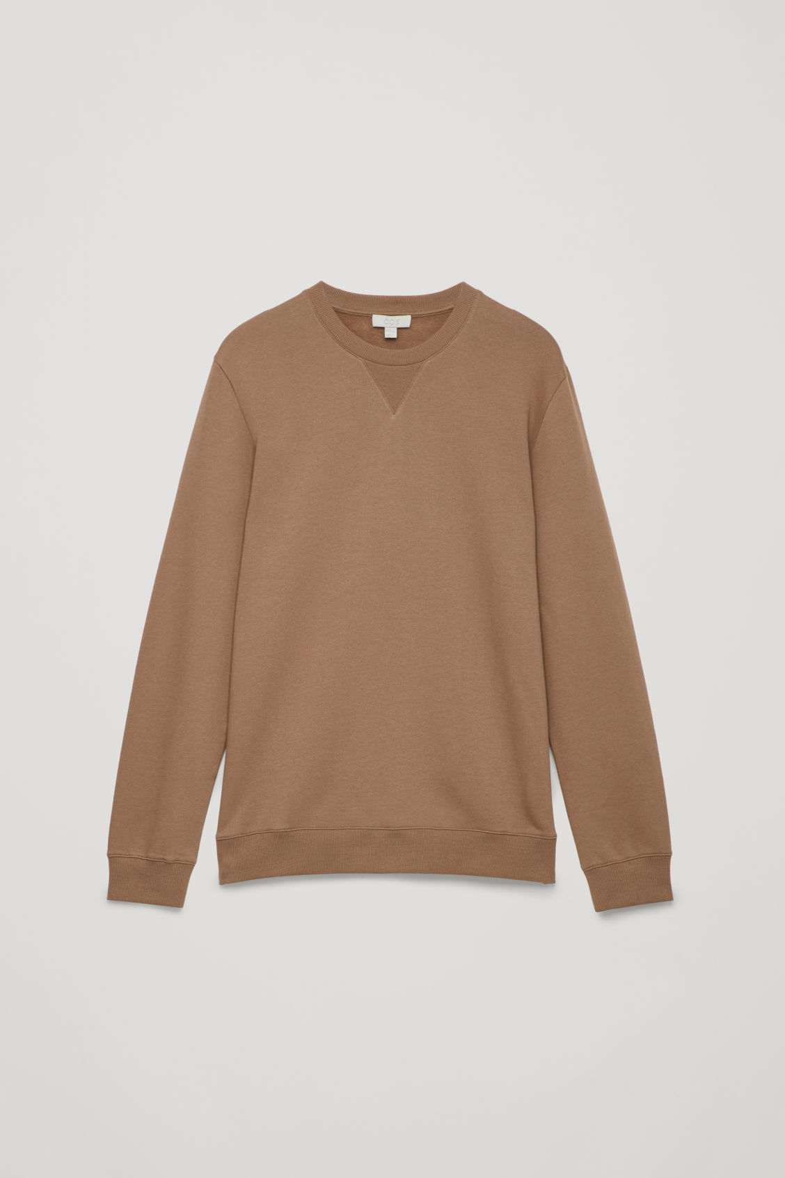 Front image of Cos brushed cotton sweatshirt in brown