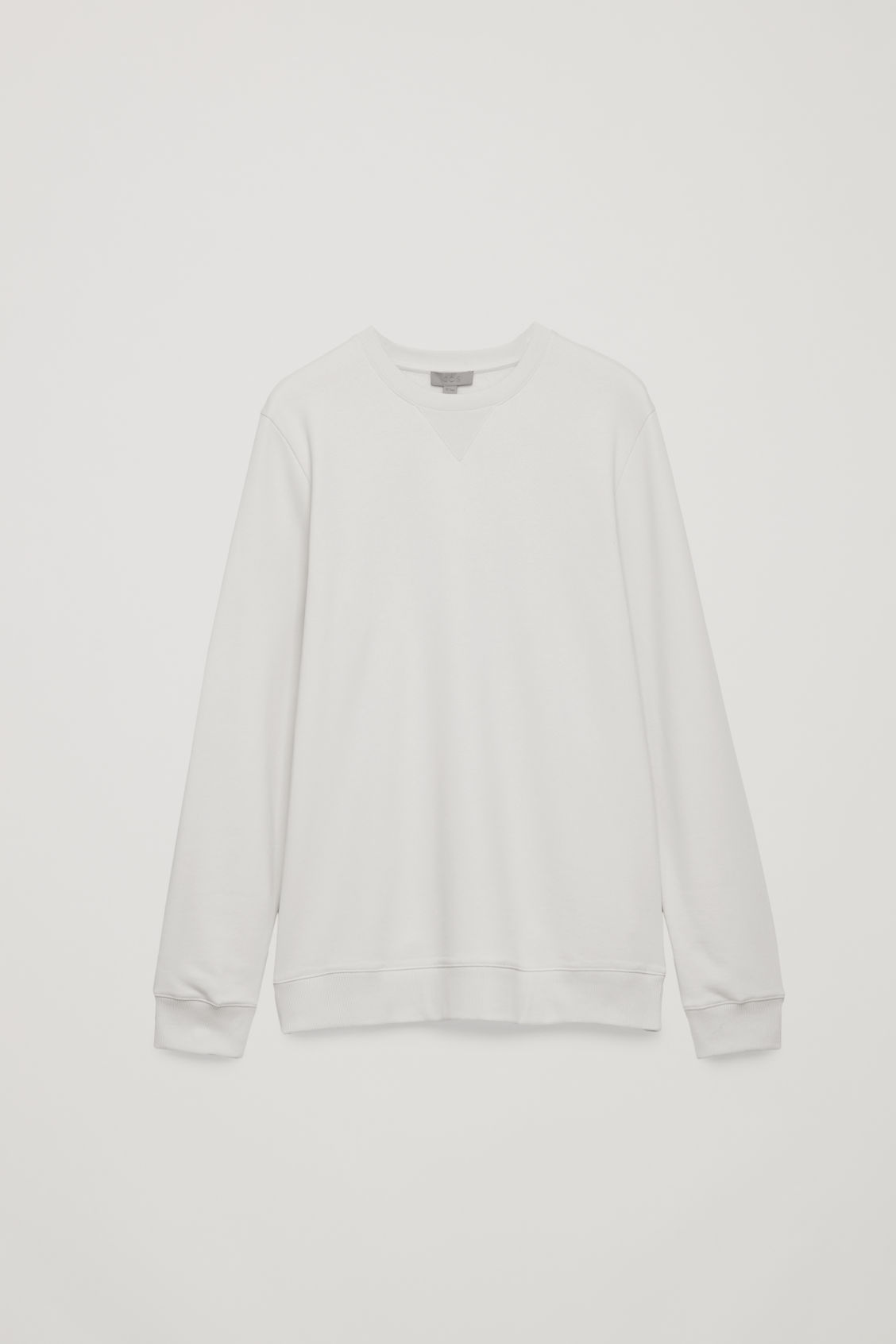 Front image of Cos brushed cotton sweatshirt in grey