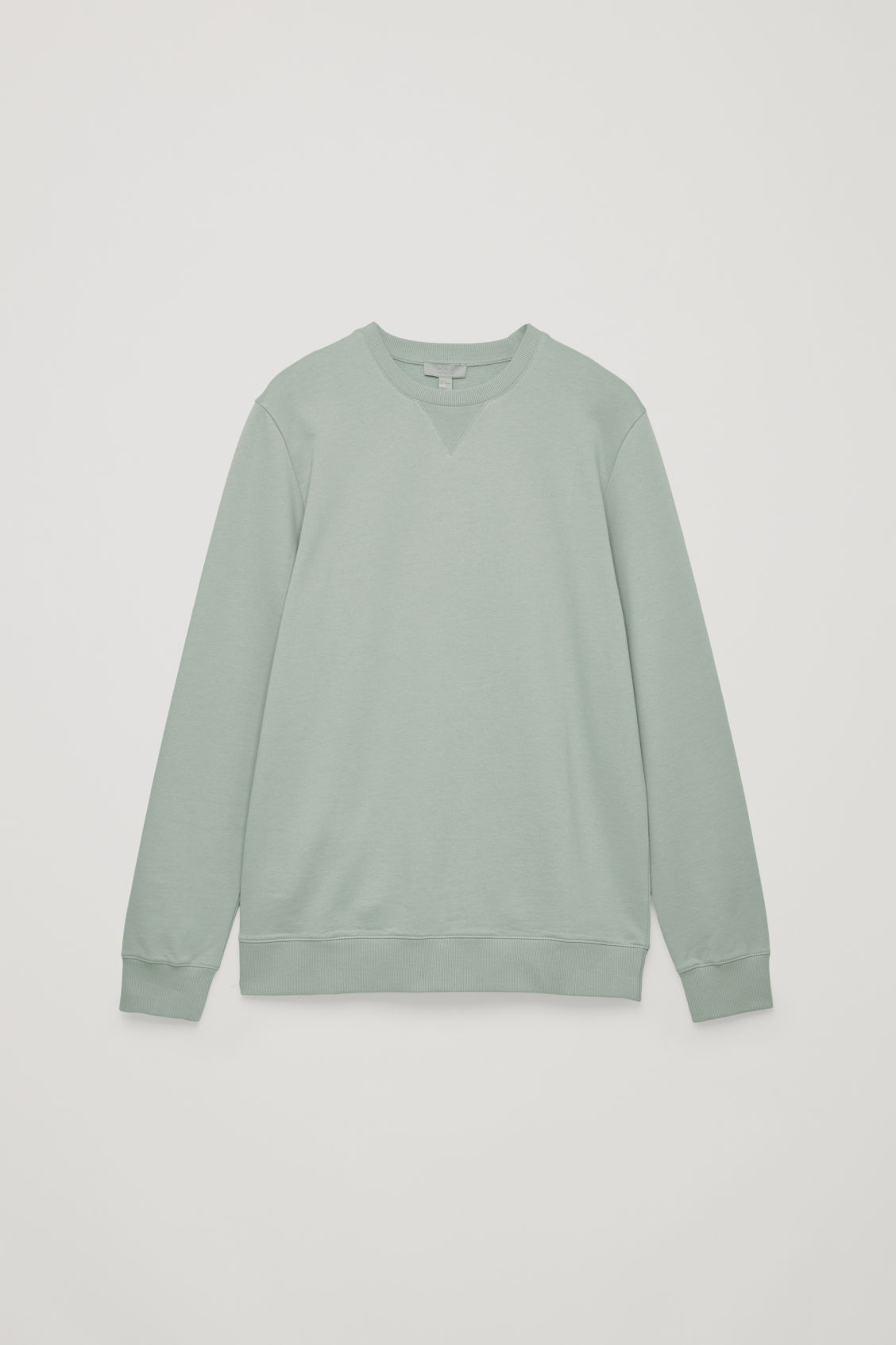 Front image of Cos brushed cotton sweatshirt in green