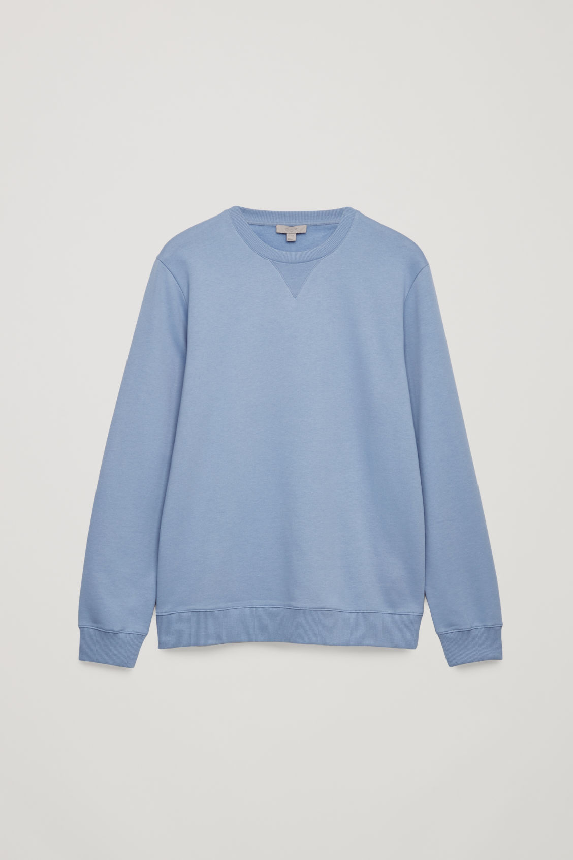 Front image of Cos brushed cotton sweatshirt in blue