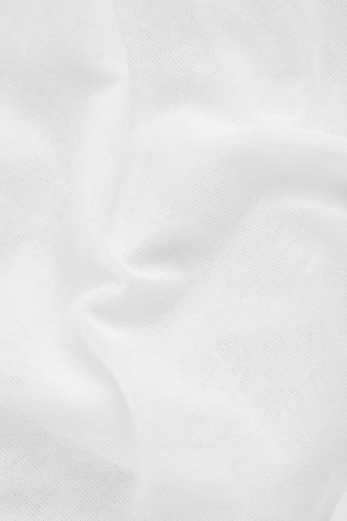 Side image of Cos layered sheer knit-woven top in white