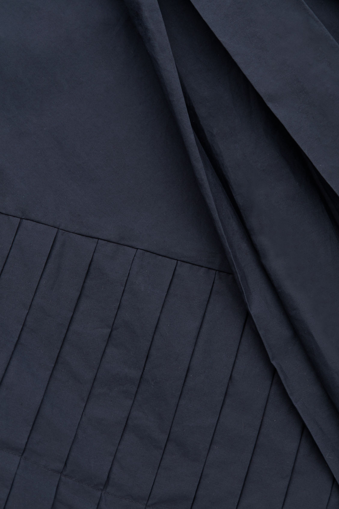 Side image of Cos a-line dress with pleated drape in blue