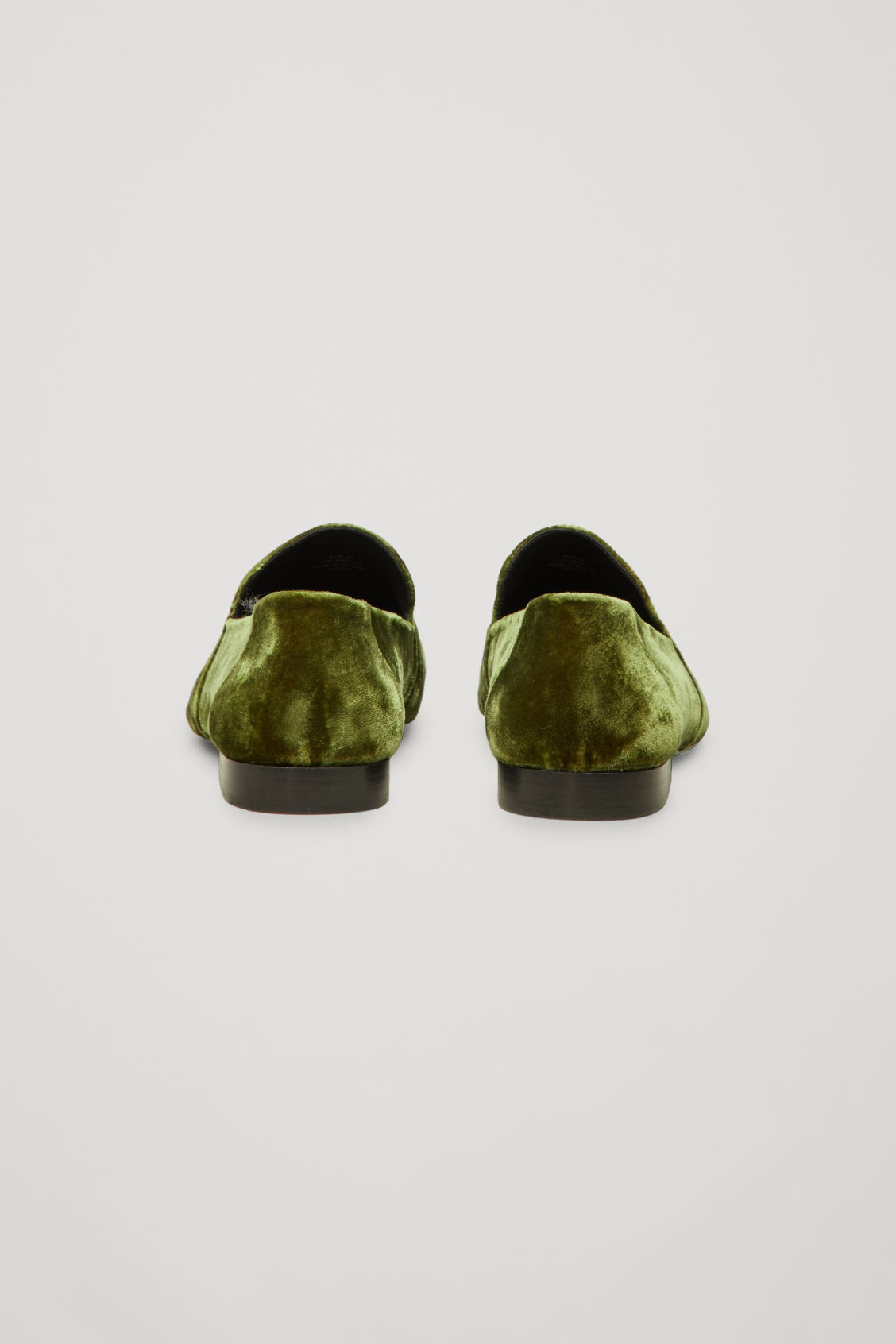 Side image of Cos soft loafers in green