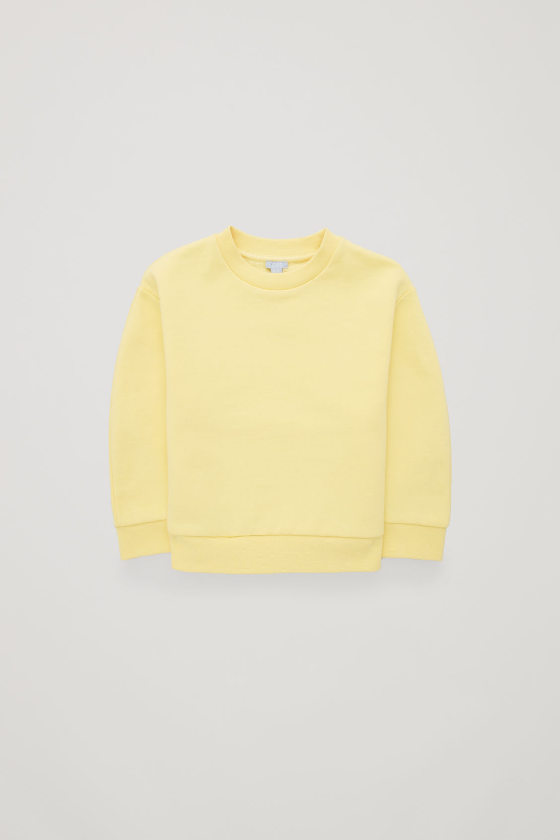 Front image of Cos recycled cotton sweatshirt  in yellow