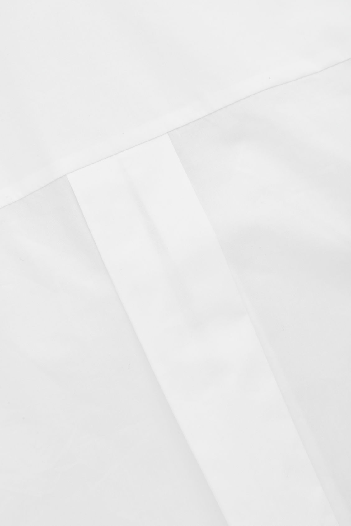 Side image of Cos shirt dress with dropped collar in white