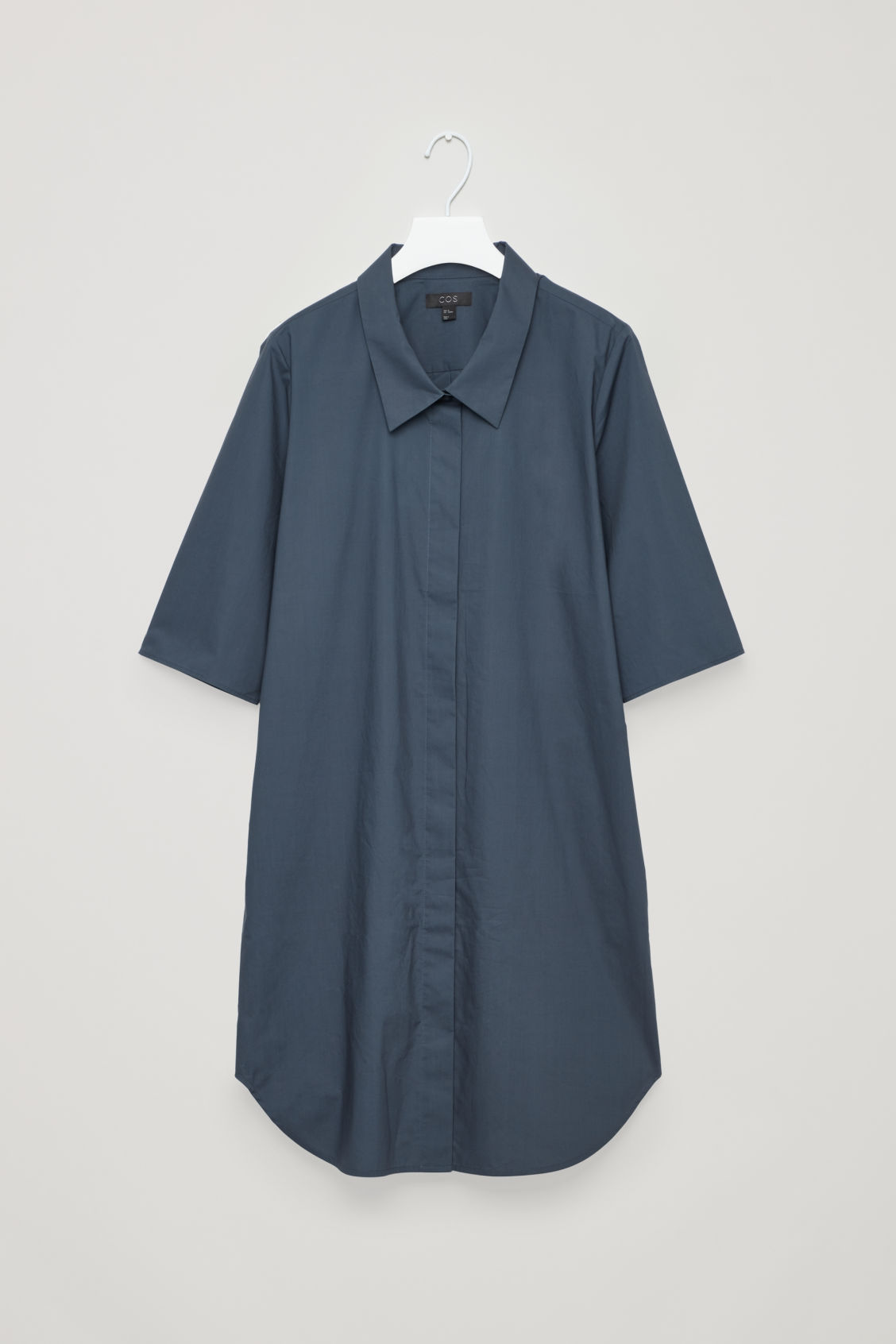 SHIRT DRESS WITH DROPPED COLLAR