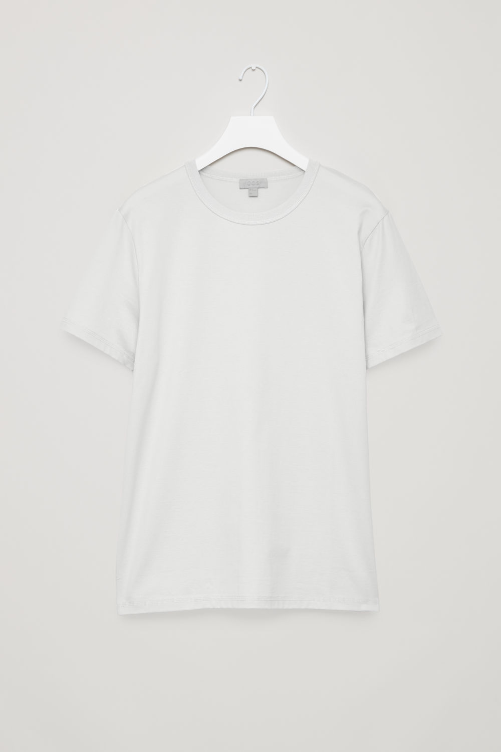 RIBBED-NECK COTTON T-SHIRT