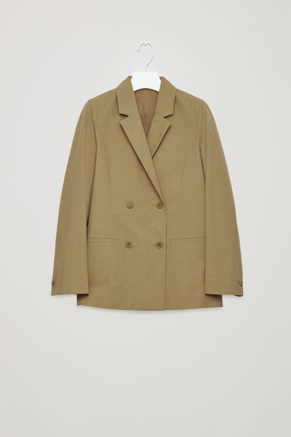 Front image of Cos relaxed double-breasted blazer  in beige