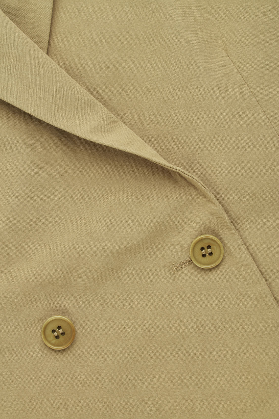 Side image of Cos relaxed double-breasted blazer  in beige
