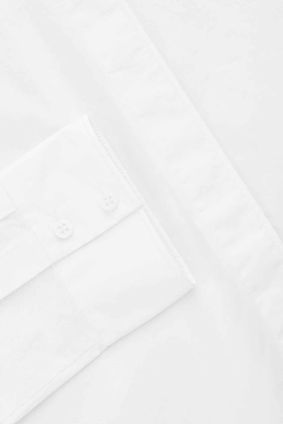 Side image of Cos grandad-collared cotton shirt in white