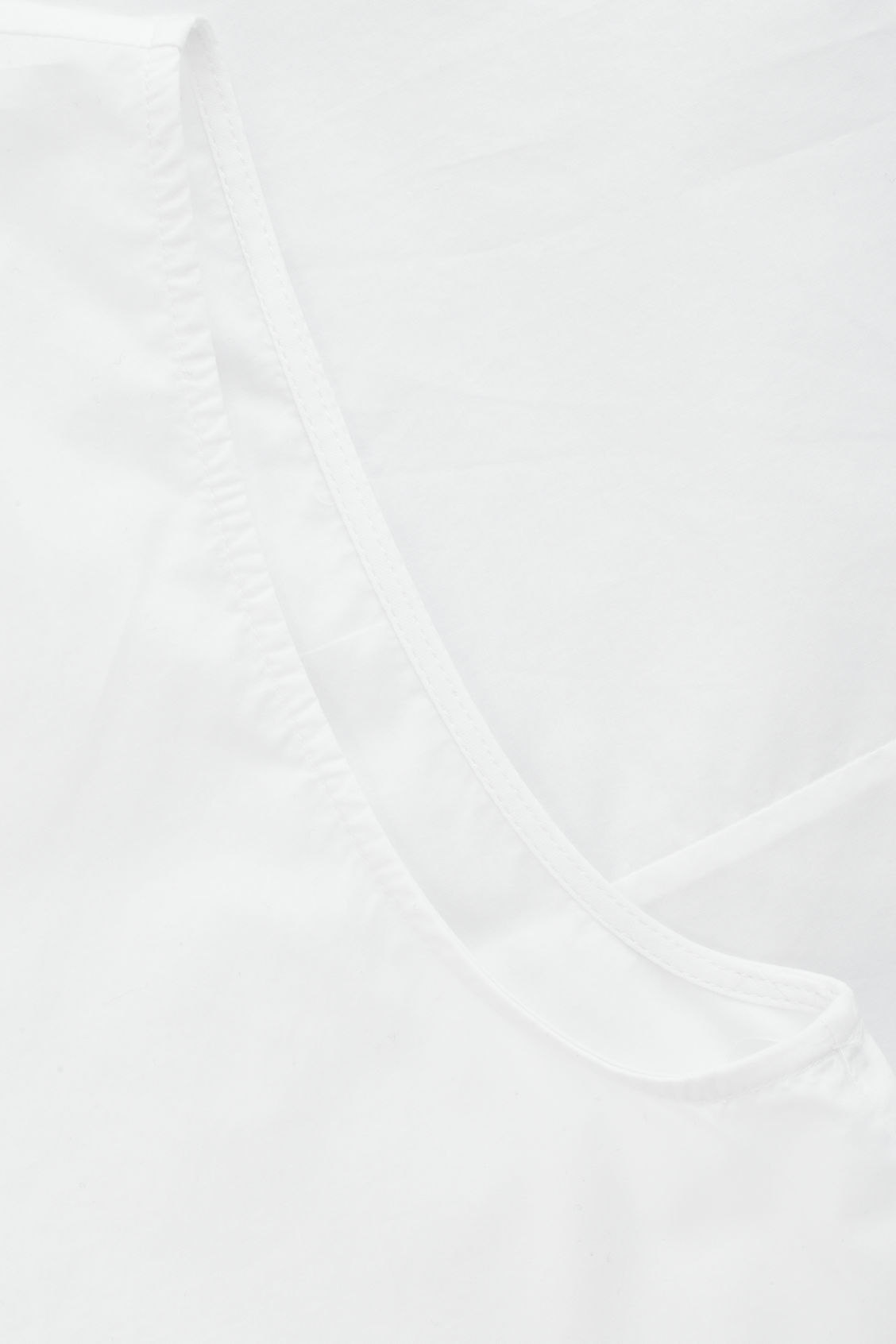 Side image of Cos flared sleeveless cotton top in white