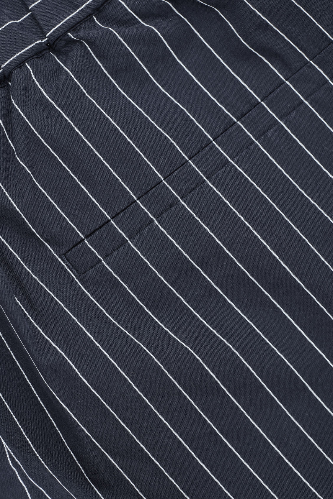 Side image of Cos pinstriped pyjama trousers in blue