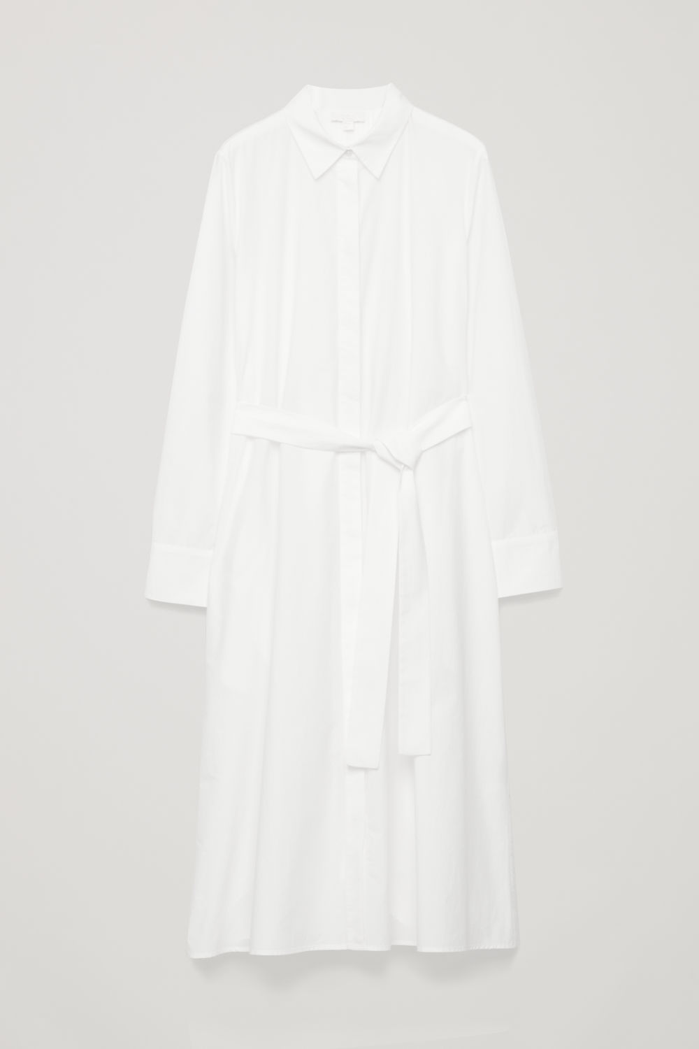 PLEATED-BACK SHIRT DRESS