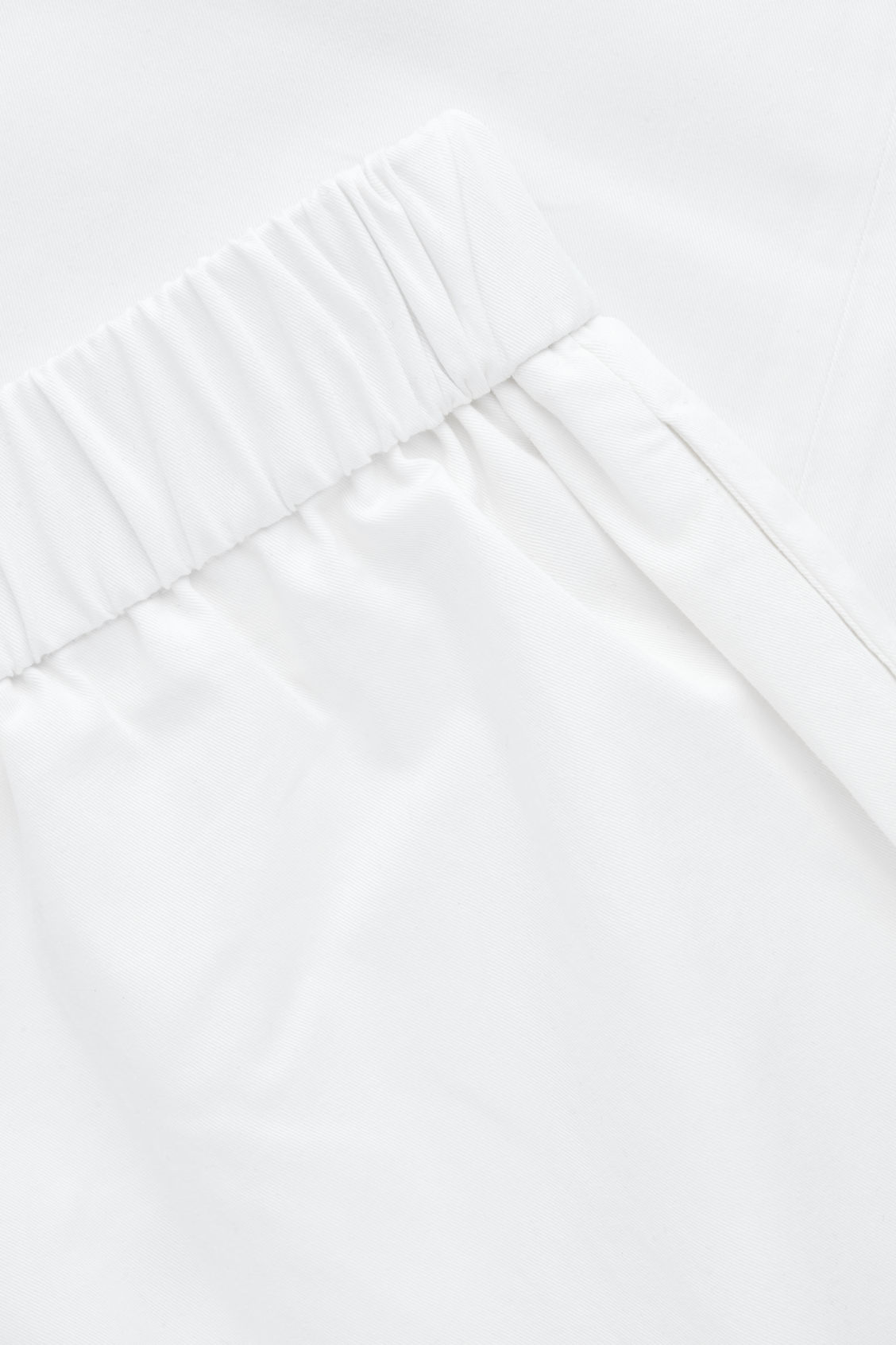 Side image of Cos cropped cotton poplin trousers in neutral