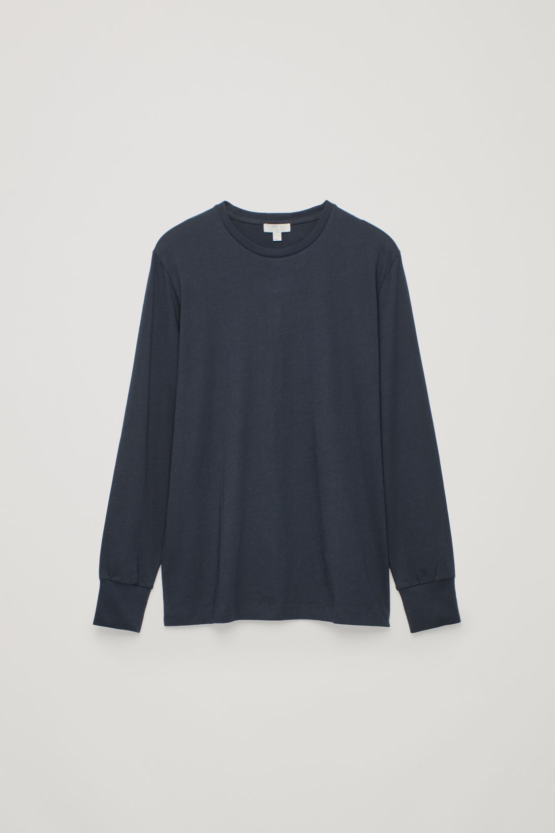 Front image of Cos basic long-sleeved t-shirt in blue