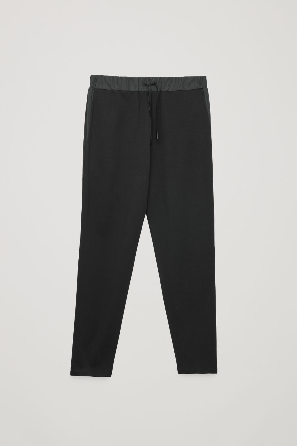 NYLON-DETAIL JERSEY TROUSERS