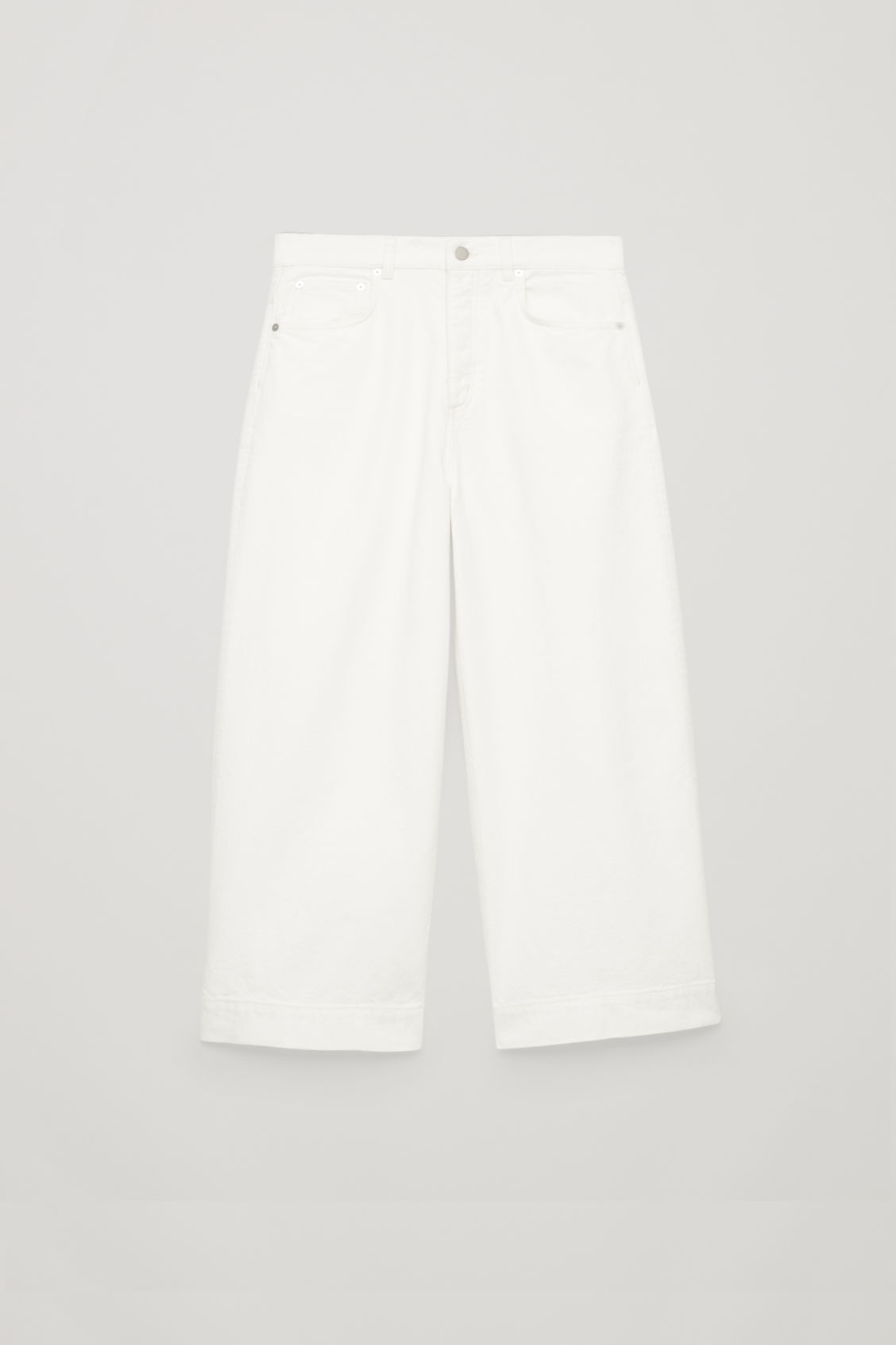 Front image of Cos 5-pocket wide-leg jeans in neutral