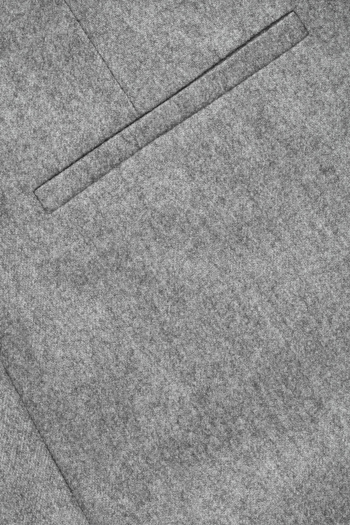 Side image of Cos twisted-seam wool trousers in grey