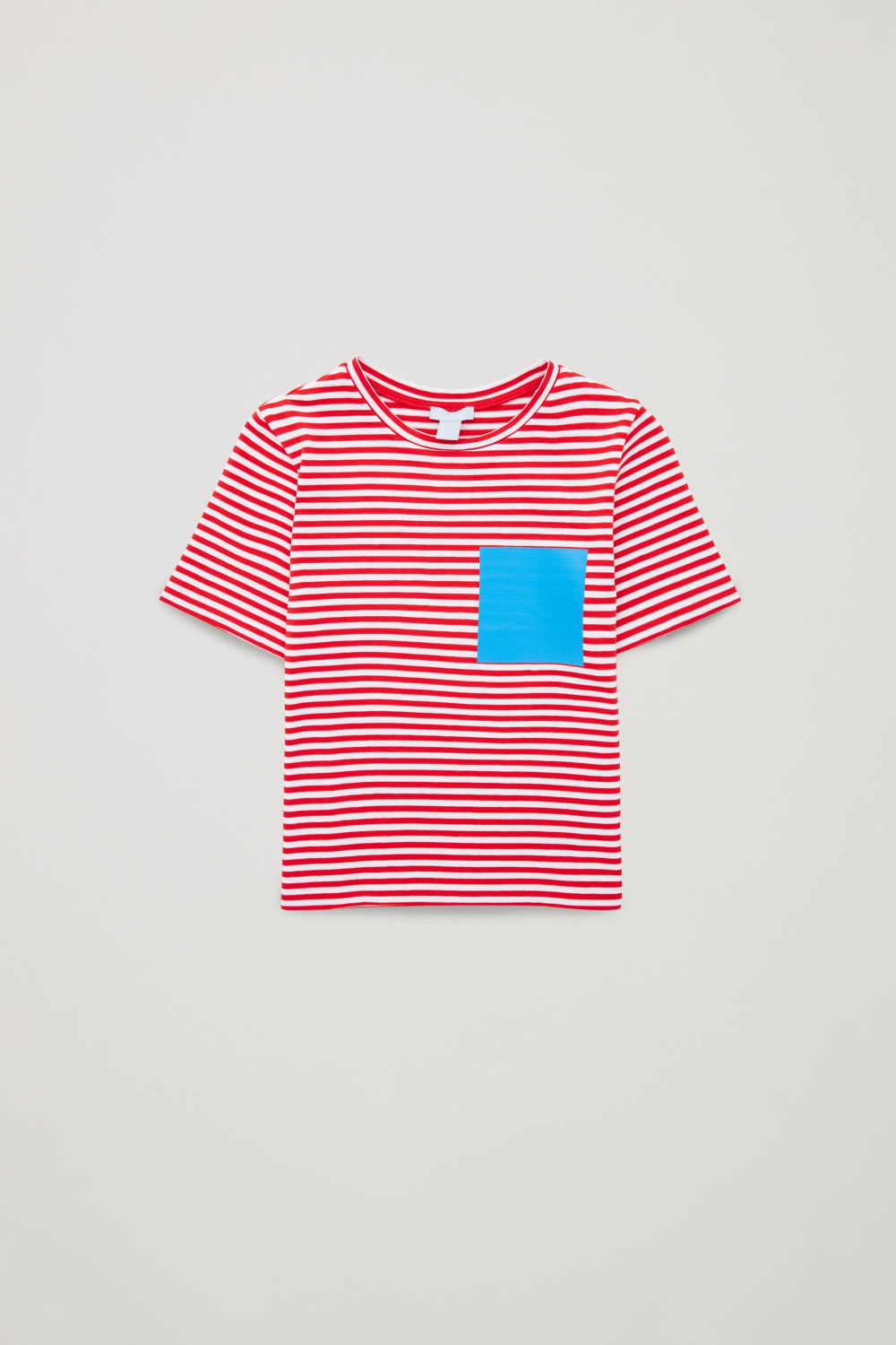 STRIPED T-SHIRT WITH FAKE POCKET