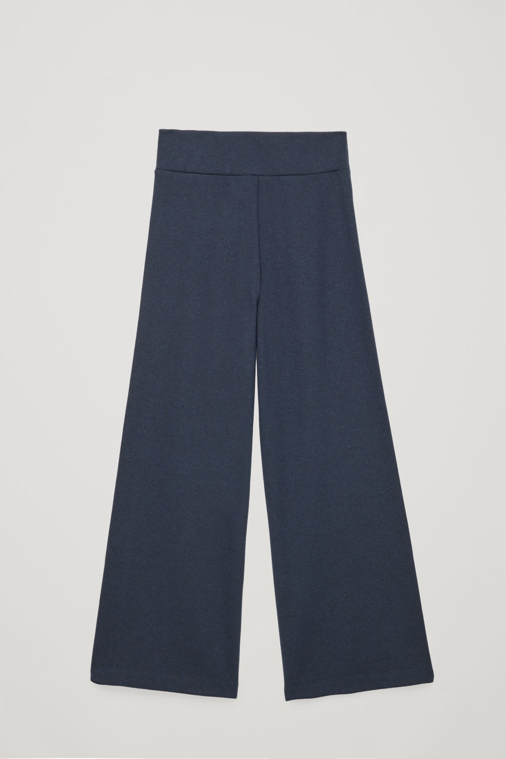 Front image of Cos cotton-wool high-waist trousers in blue