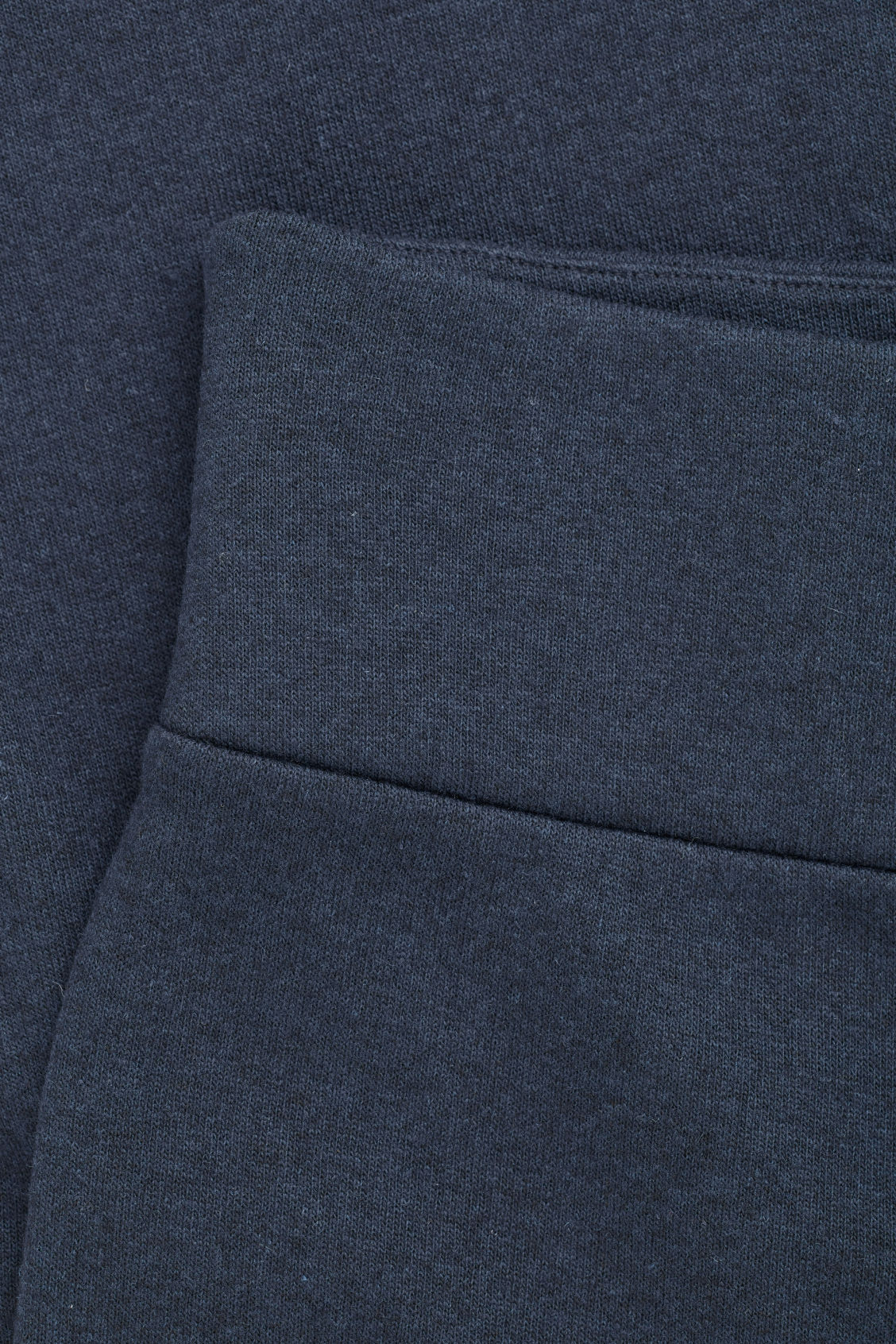 Side image of Cos cotton-wool high-waist trousers in blue