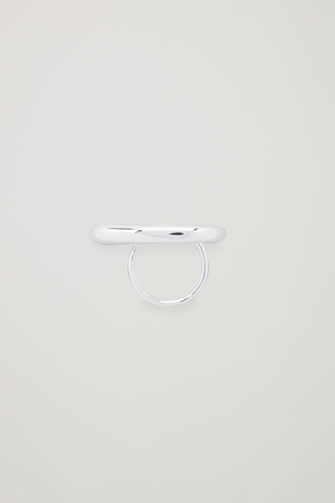 Front image of Cos gradual statement ring in silver