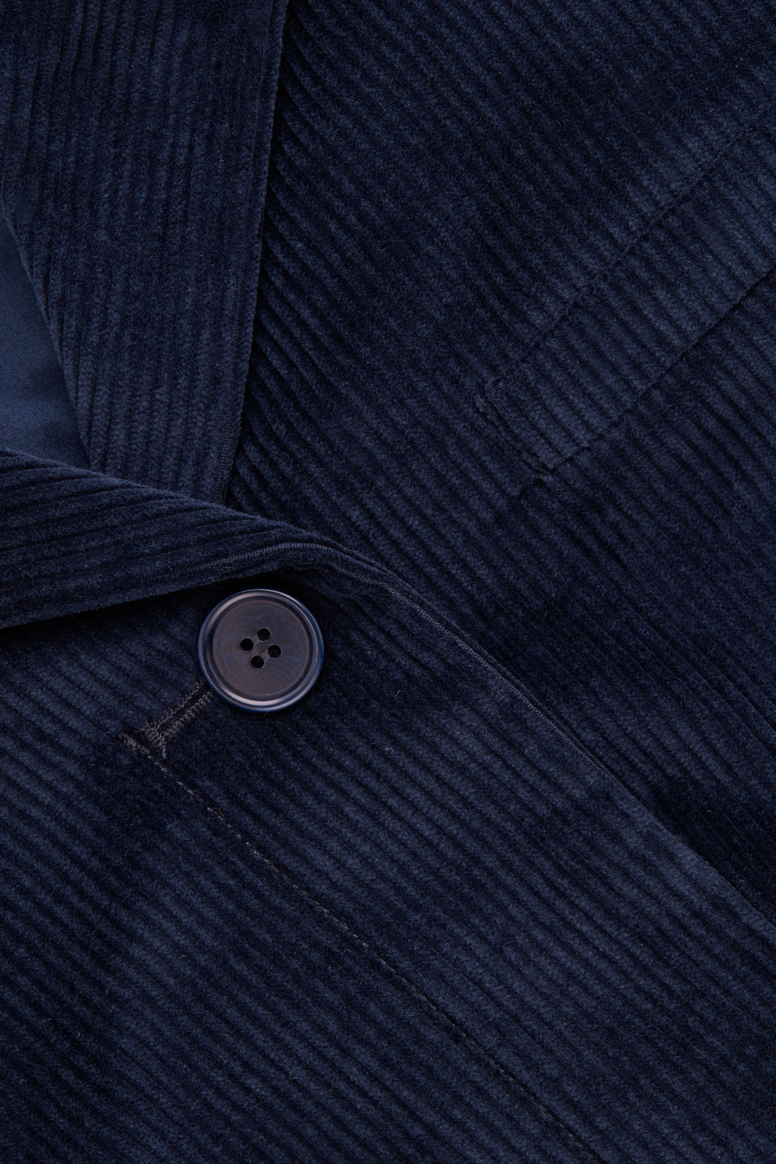 Side image of Cos workwear corduroy blazer in blue