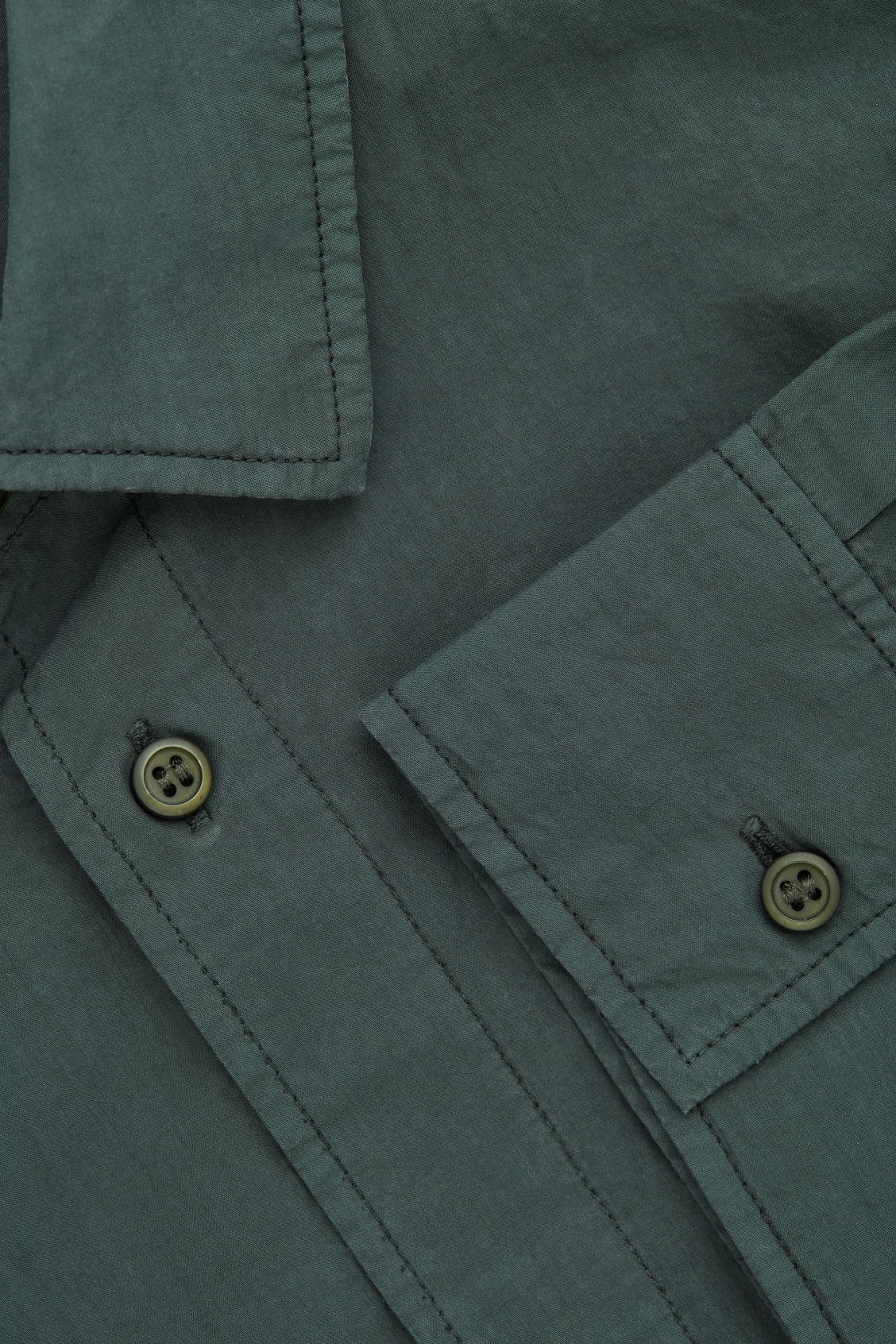 Side image of Cos washed-cotton shirt in green