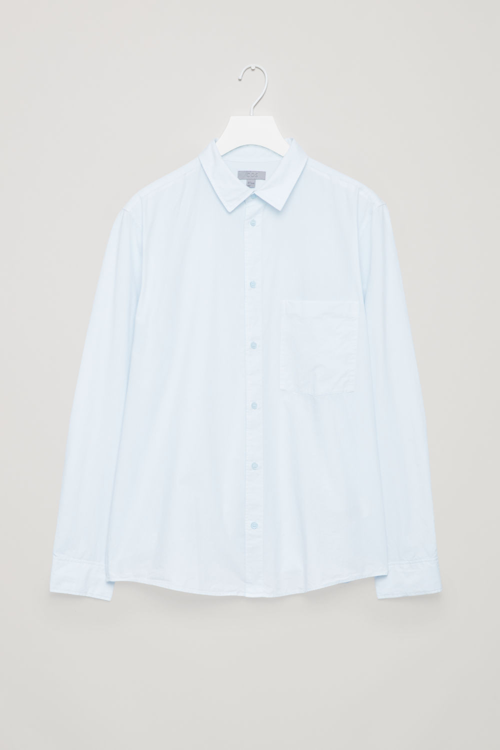 Front image of Cos washed-cotton shirt in blue