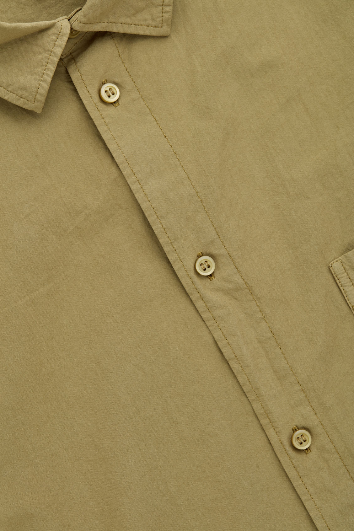 Side image of Cos washed-cotton shirt in yellow