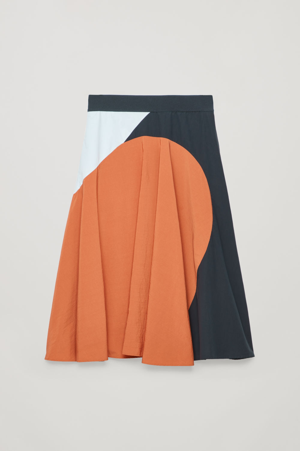 COLOUR-BLOCK A-LINE SKIRT