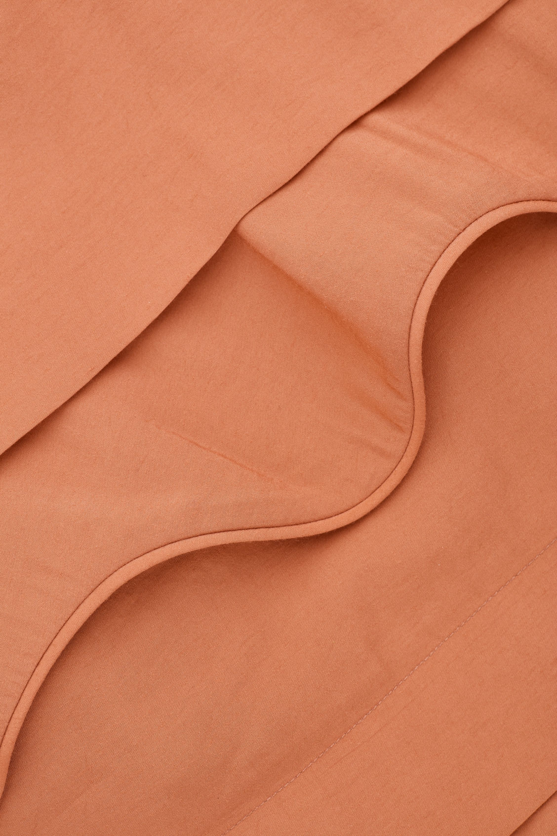 Side image of Cos scallop-trim layered dress in orange