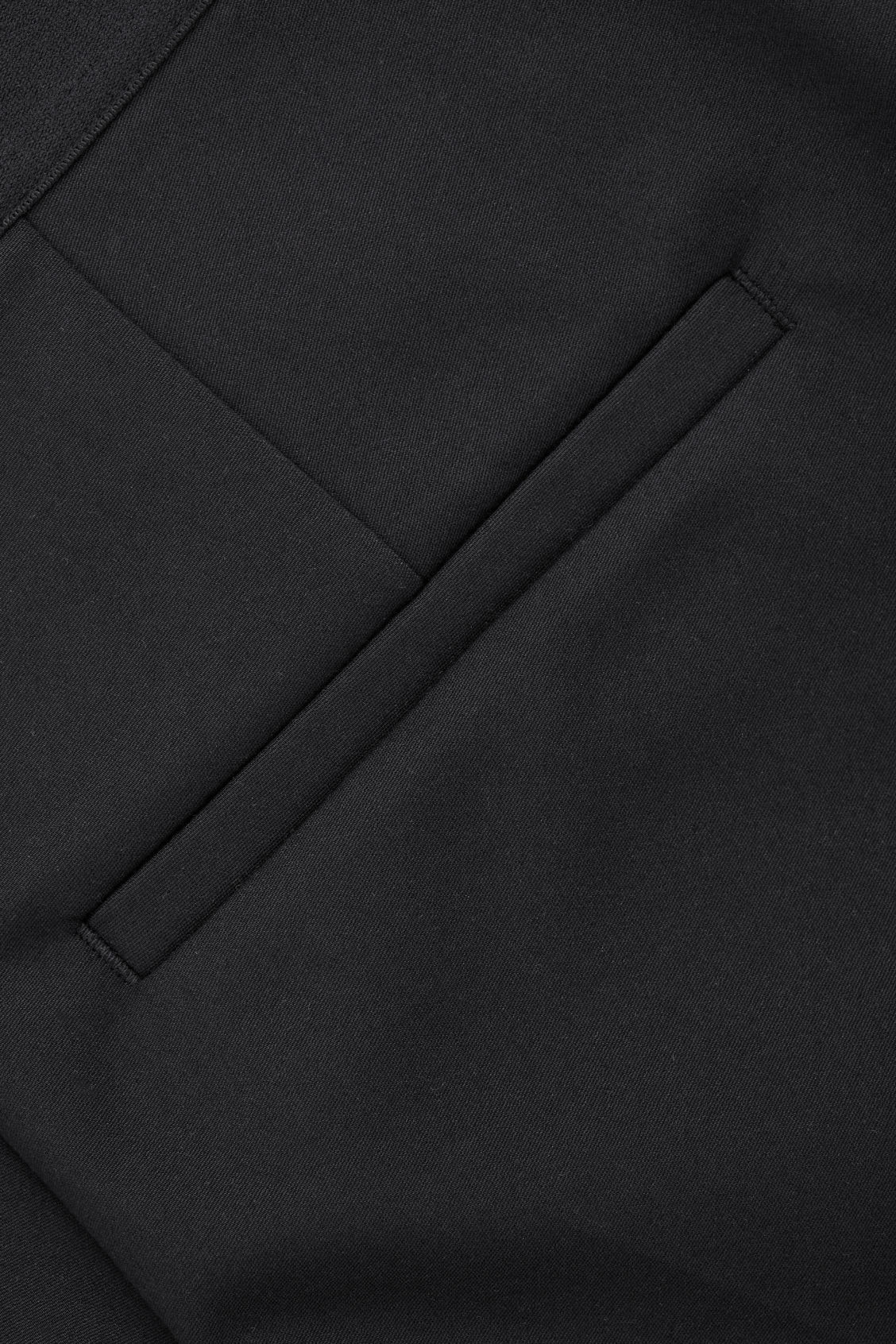 Side image of Cos skinny stretch-cotton trousers in black