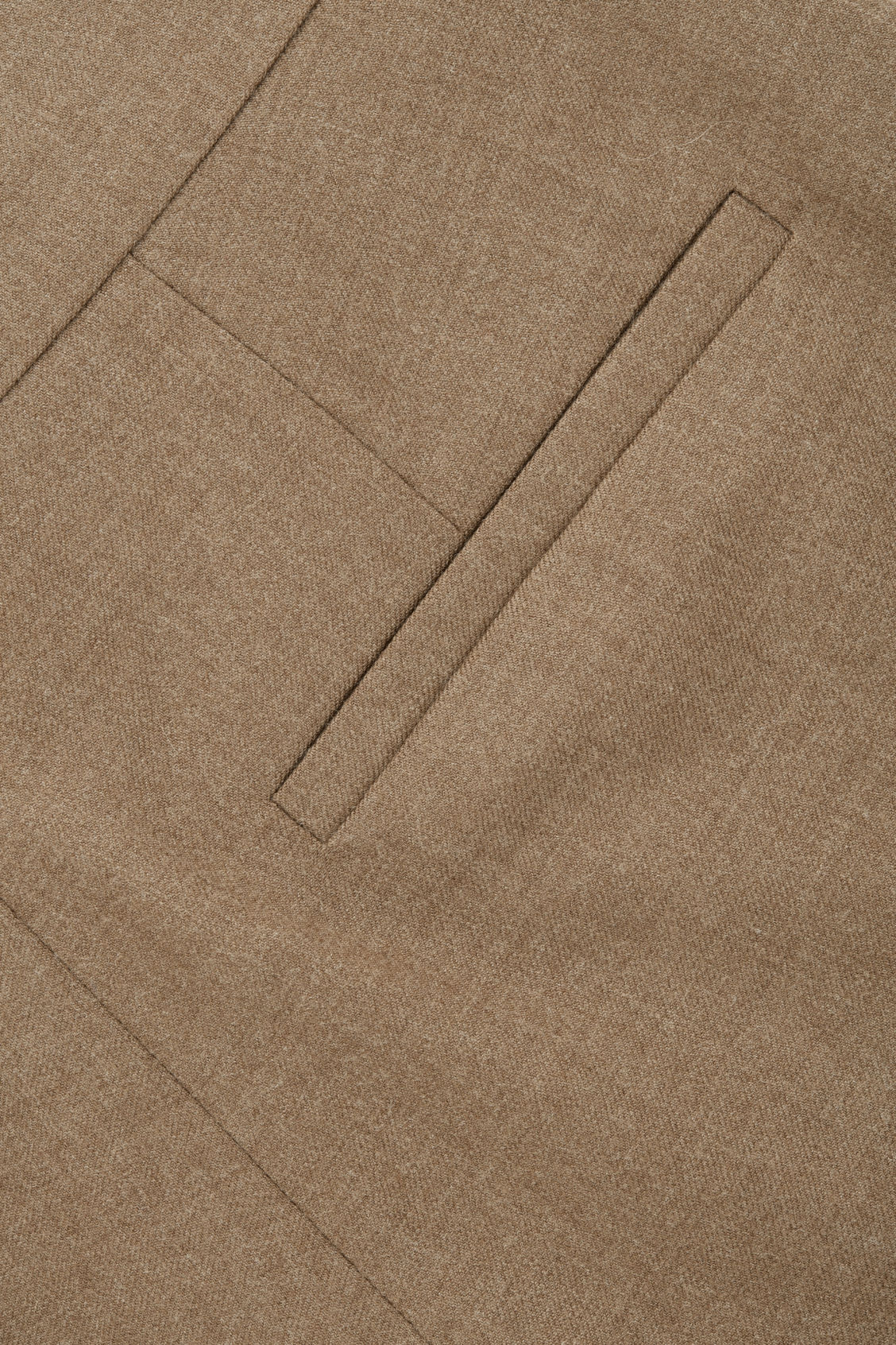Side image of Cos wool straight-leg trousers in brown